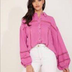 NWT Free People Boho Summer Star Shirt, Size XS